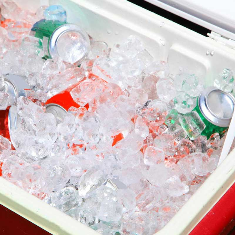 Filled cooler